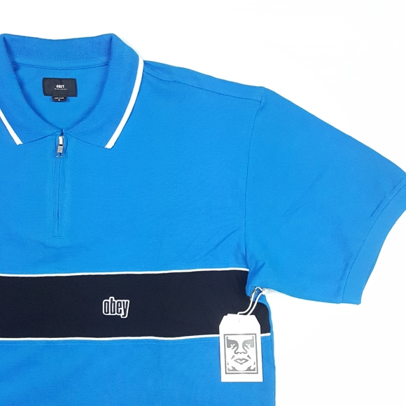 Obey Mens Johnny Zip Ss Polo